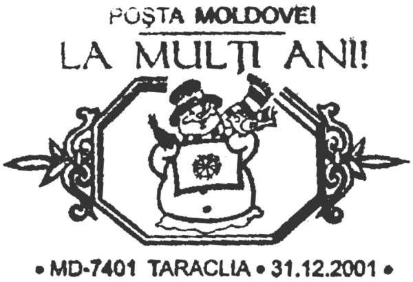 Special Commemorative Cancellation | Postmark: Taraclia MD-7401 31/12/2001