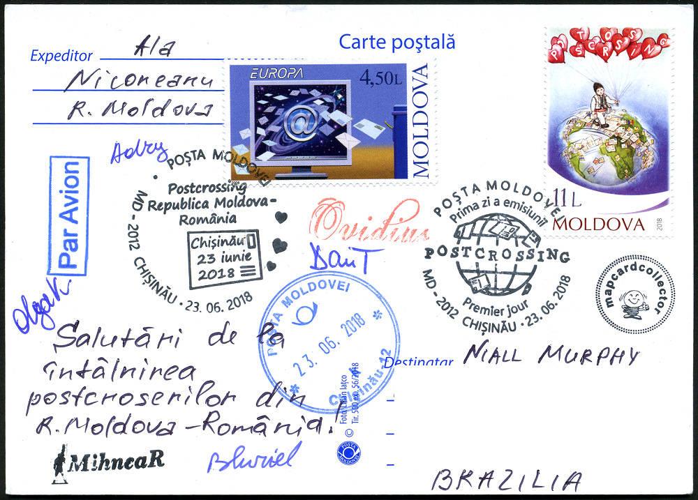 № CS2018/13 - POSTCROSSING Meeting: Republic of Moldova and Romania - Chisinau