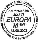 № CF147 - 10th Anniversary of the Moldovan «Europa» Stamps 2003
