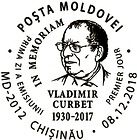 First Day Cancellation | Personalities IIc: Vladimir Curbet. In Memoriam