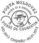 № CFU331 - Pierre de Coubertin - 150th Birth Anniversary 2013