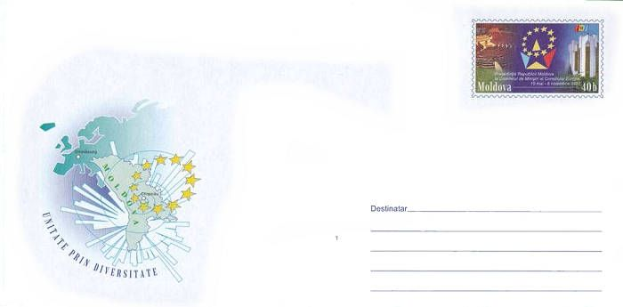 Envelope: Map of Europe and the Circle of Stars (Address Side)