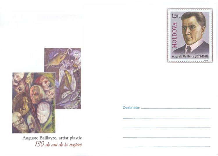 Envelope: Paintings by Auguste Baillayre (Address Side)