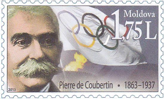 Fixed Stamp: Pierre de Coubertin (1863-1937), Founder of the Modern Olympic Games