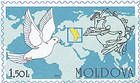 Dove, Emblem of the UPU and World Map