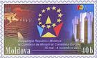 № U154 - Emblem of the Presidency of the Republic of Moldova of the Council of Europe Committee of Ministers