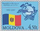 Emblem of the UPU and the Flag of the Republic of Moldova