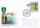Fisherman. Emblem of the Society of Hunters and Fishermen of Moldova