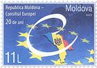 Map of Moldova and Emblem of the Council of Europe