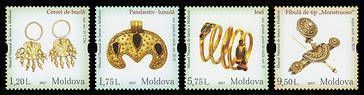 № - 1001-1004 - Treasures of the Past. Vestiges of Ancient Treasure of Moldova. National Museum of History of Moldova