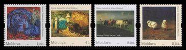 № - 1017-1020 - Fauna in Paintings - National Museum of Fine Arts, Chișinău