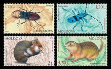 № - 1092-1095 - From The Red Book of the Republic of Moldova: Fauna