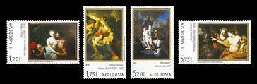№ - 1123-1126 - Art: Paintings from the Heritage of the National Museum of Fine Arts of Moldova