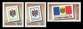 № - 394-396 - 10th Anniversary of the First Stamps of the Republic of Moldova