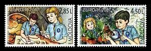 № - 582-583 - EUROPA 2007 - 100 Years of Scouting