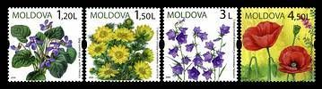 № - 655-658 - Wild Flowers of Moldova