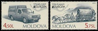 № - 829-830 - EUROPA 2013 - Postal Vehicles