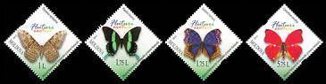 № - 838-841 - Butterflies and Moths (III)