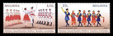 № - 928-929 - Folk Dances (III) - Joint Issue with Azerbaijan