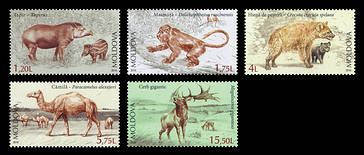 № - 980-984 - Extinct Fauna of Moldova