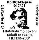 G. Benetato Welcomes the Moldovan Stamp Collectors to the Exhibition «FILTEM-2001»