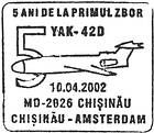 Flights Between Chișinău and Amsterdam - 5th Anniversary 2002