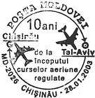 Flights Between Chişinău and Tel-Aviv - 10 Years 2003