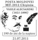 Vasile Alecsandri - 190th Birth Anniversary