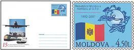 № - U212 - Republic of Moldova - Member of the Universal Postal Union (UPU) - 15th Anniversary