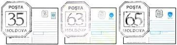 Numerical 0.35, 0.63 and 0.65 Ruble Inflation Tariff Stamps on Various Envelopes