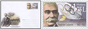 № - U331 - Pierre de Coubertin - 150th Birth Anniversary