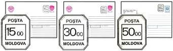№ - U61-U63 - Numerical 15, 30, 50 Ruble (1500, 3000, 5000 Kopecks) Inflation Tariff Stamps on Various Envelopes