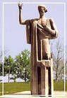 Mihai Eminescu. Statue. Drochia