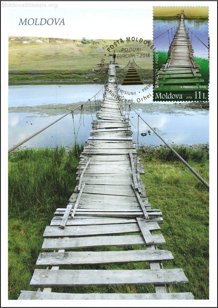 Wooden Bridge at Pohorniceni, Orhei