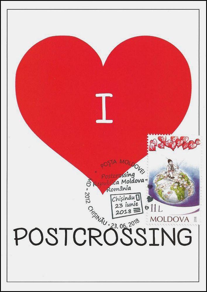«I Love Postcrossing»