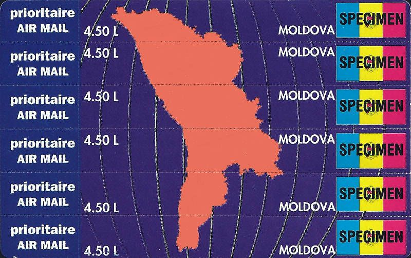 Map and Flag of Moldova
