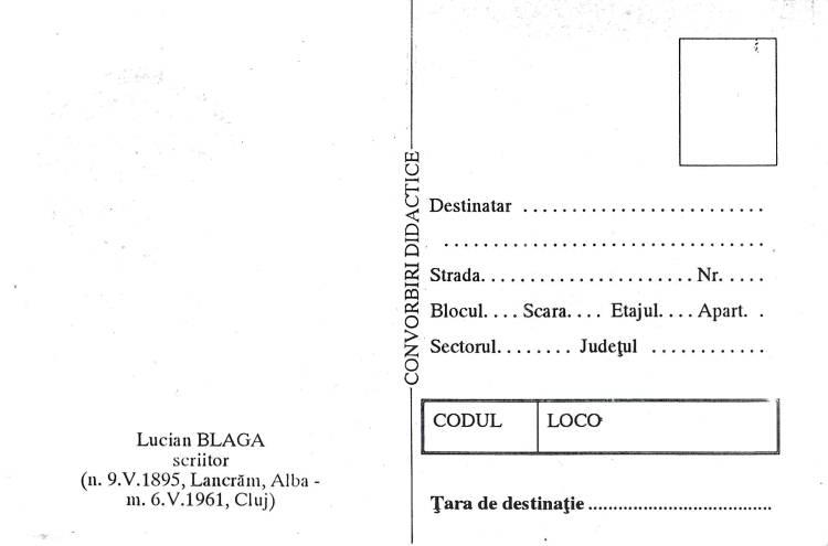№ 170 MC1 -  Lucian Blaga (1895-1961). Philosopher and Poet