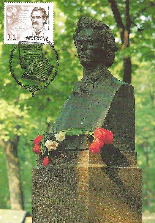 Bust of Mihai Eminescu, Poet (1850-1889)