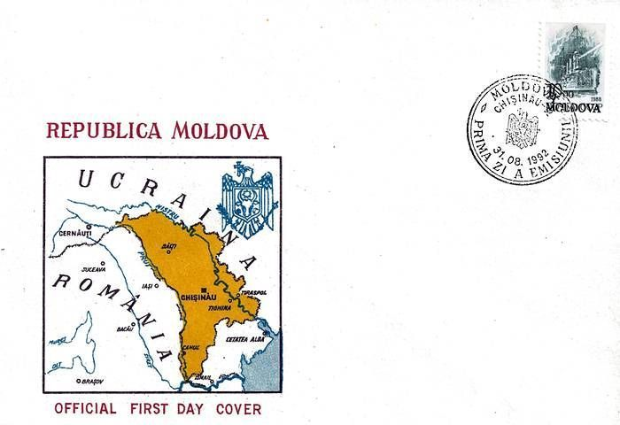 Cachet: Map of Moldova