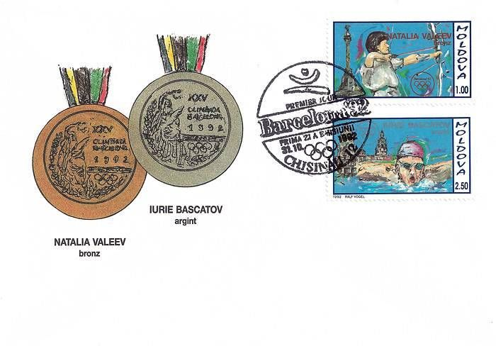 Cachet: Olympic Medals