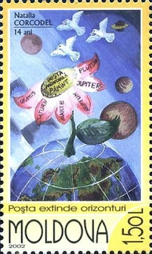 «Carrier Pigeons Sending Mail to Other Planets» by Natalia Corcodel (Age 14)