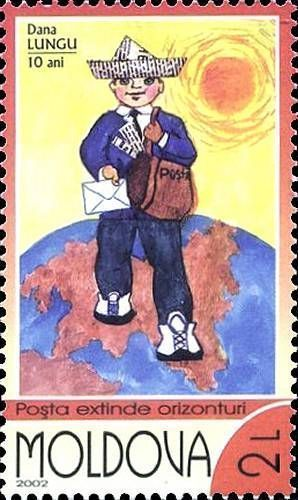«A Child Postman Delivering Letters» by Dana Lungu (Age 10)