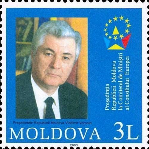 President of the Republic of Moldova, Vladimir Voronin and Emblem