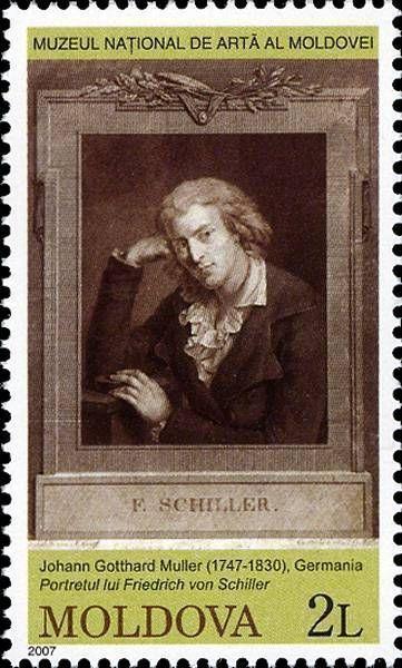 Portrait of Friedrich von Schiller by Johann Gotthard von Müller (1747-1830), Germany
