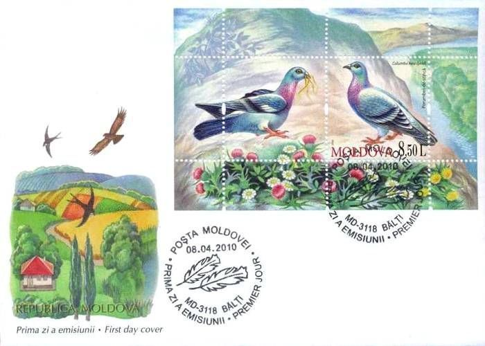 Cachet: Birds Flying Over the Countryside