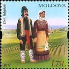 № 1010 (1.75 Lei) Man and Woman Wearing Traditional Gagauz Costumes