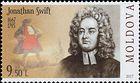 № 1027 (9.50 Lei) Jonathan Swift (1667-1745), Anglo-Irish Satirist, Poet, Cleric