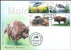 № 1037-1040 FDC1 - Fauna from the «Pădurea Domnească» (Princely Forest) Nature Reserve 2018