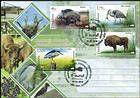 № 1037-1040 FDC2 - Fauna from the «Pădurea Domnească» (Princely Forest) Nature Reserve 2018