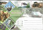 № 1038-1039 FDC1 - Fauna from the «Pădurea Domnească» (Princely Forest) Nature Reserve 2018